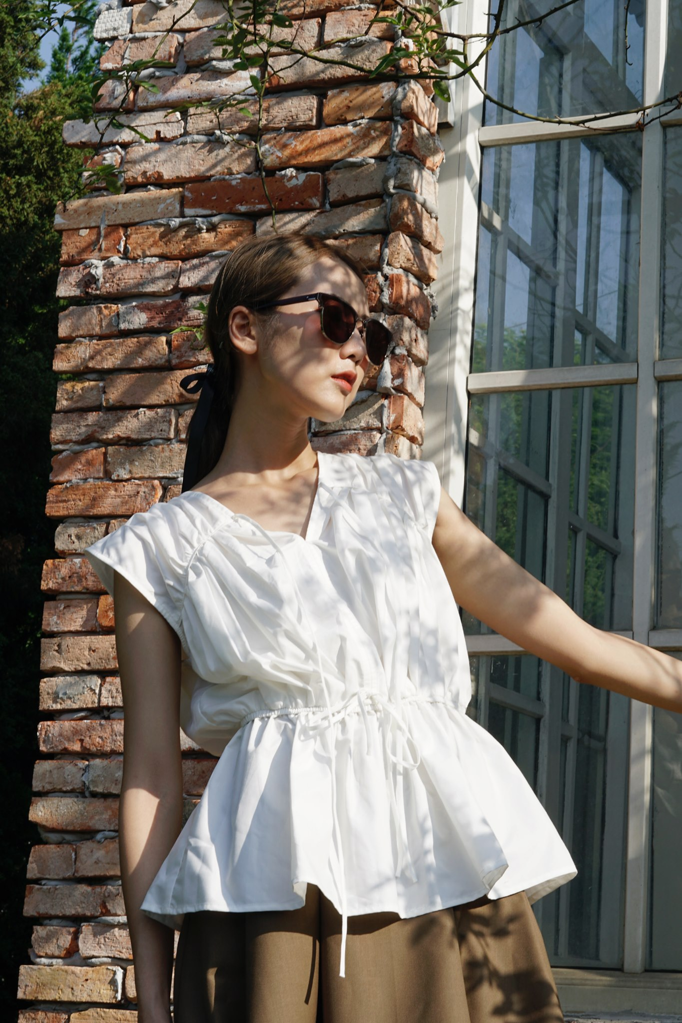 July top - White