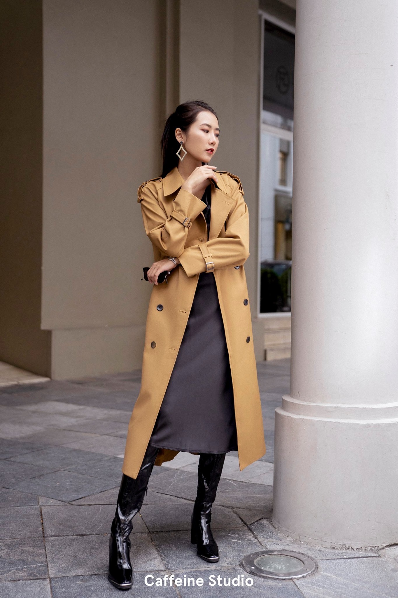 Long Trench Coat - Camel