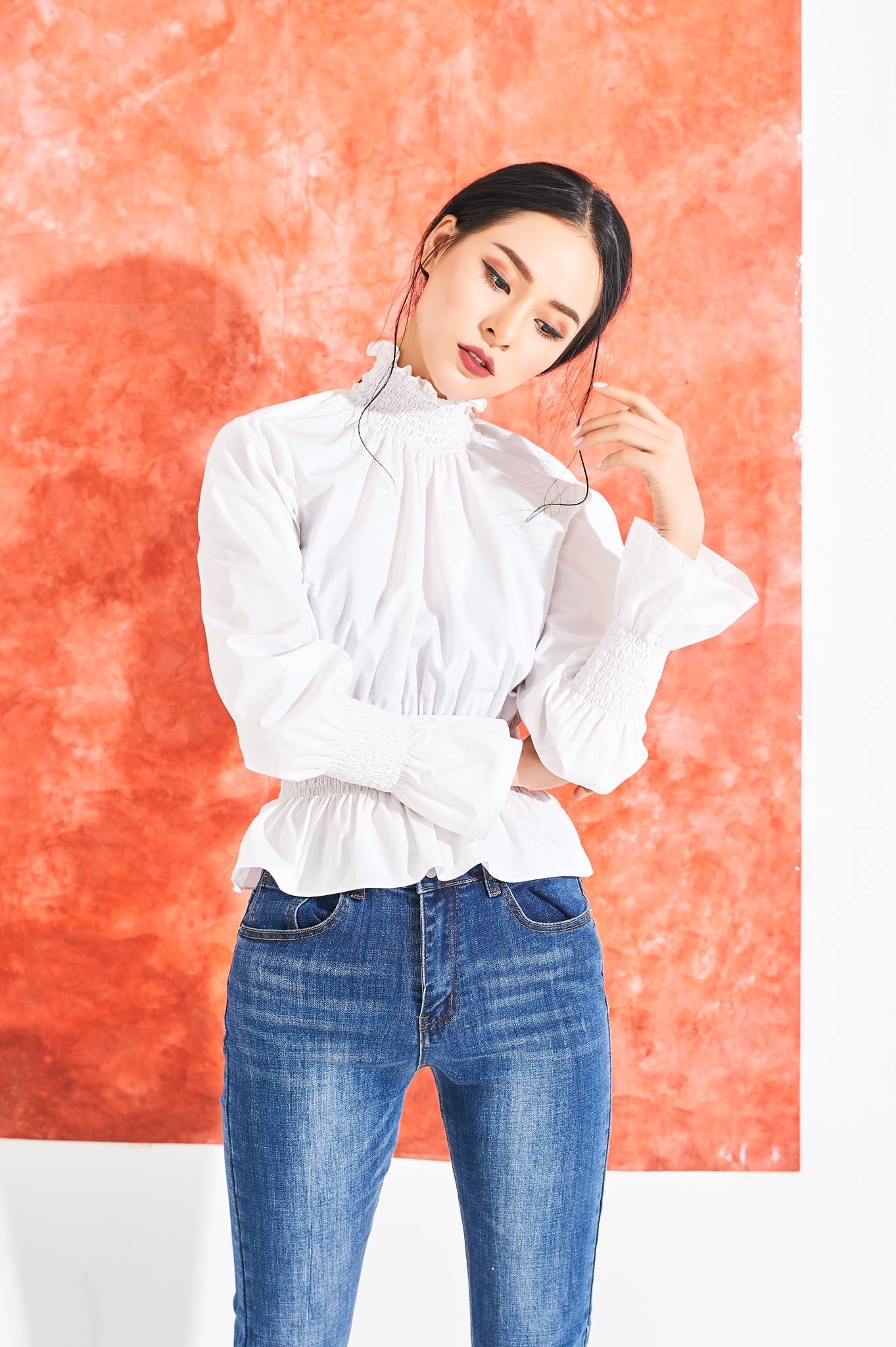 Amie high neck blouse