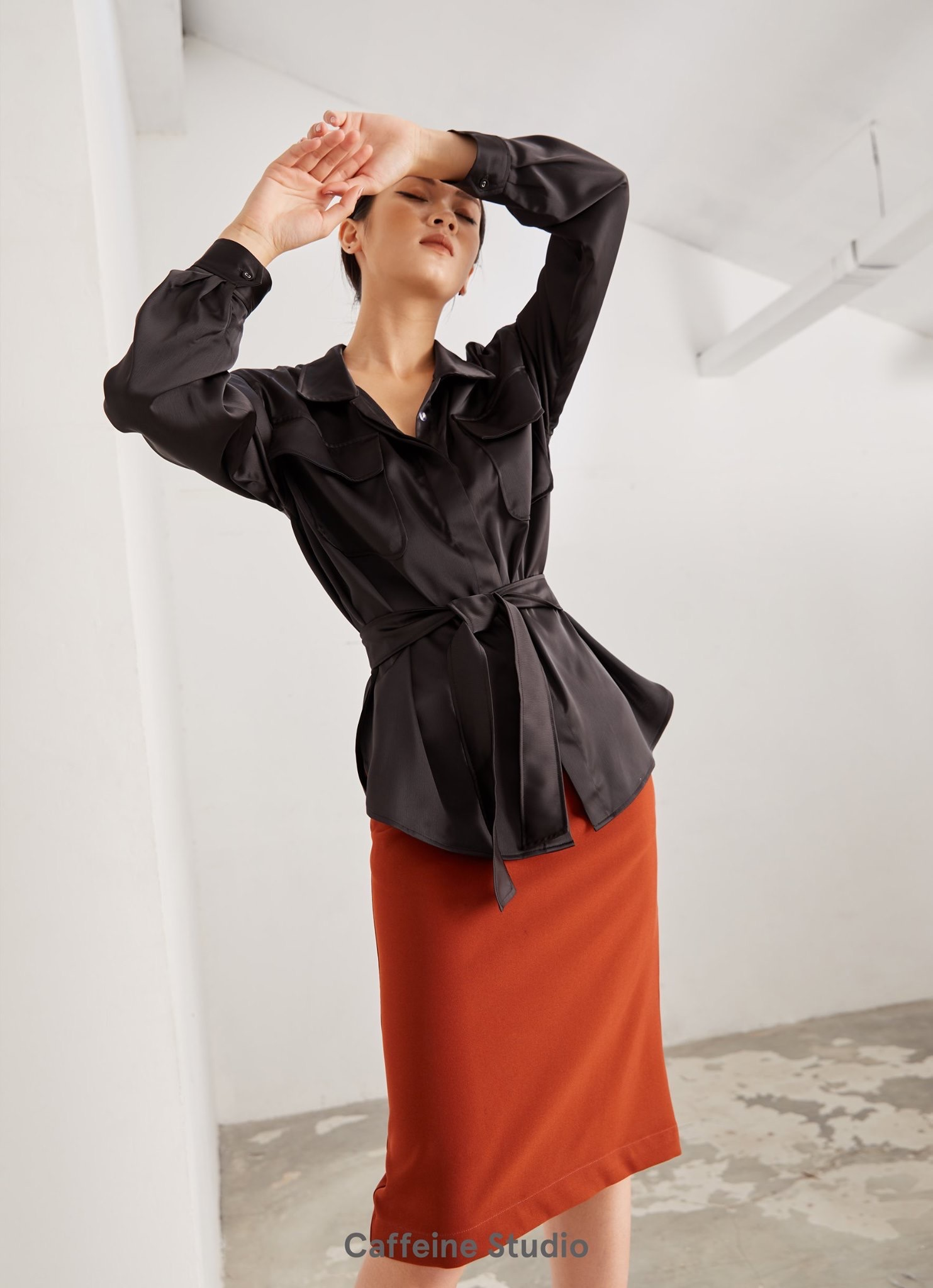 Silk Shirt with belt FW19