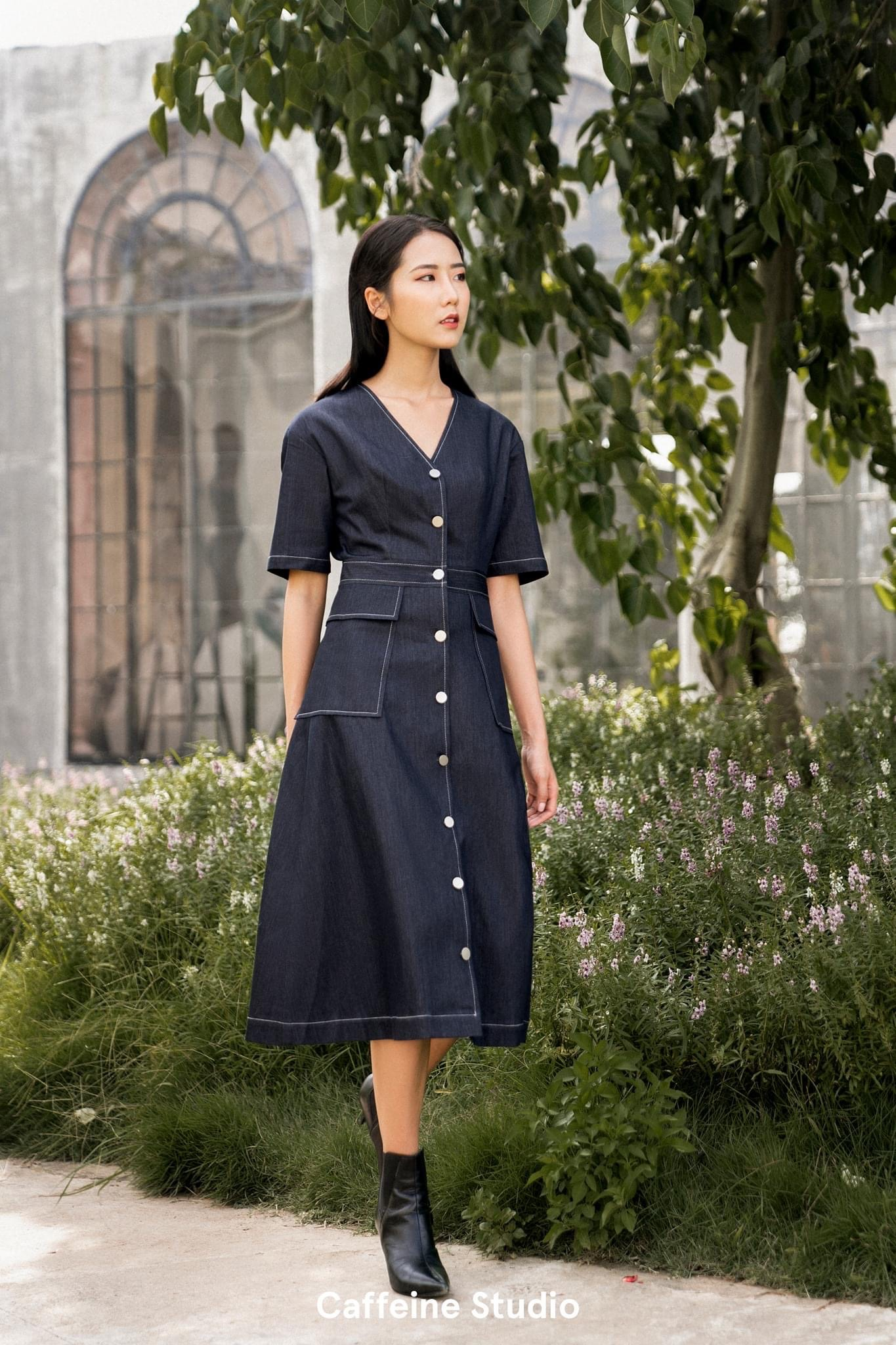 Audry denim dress