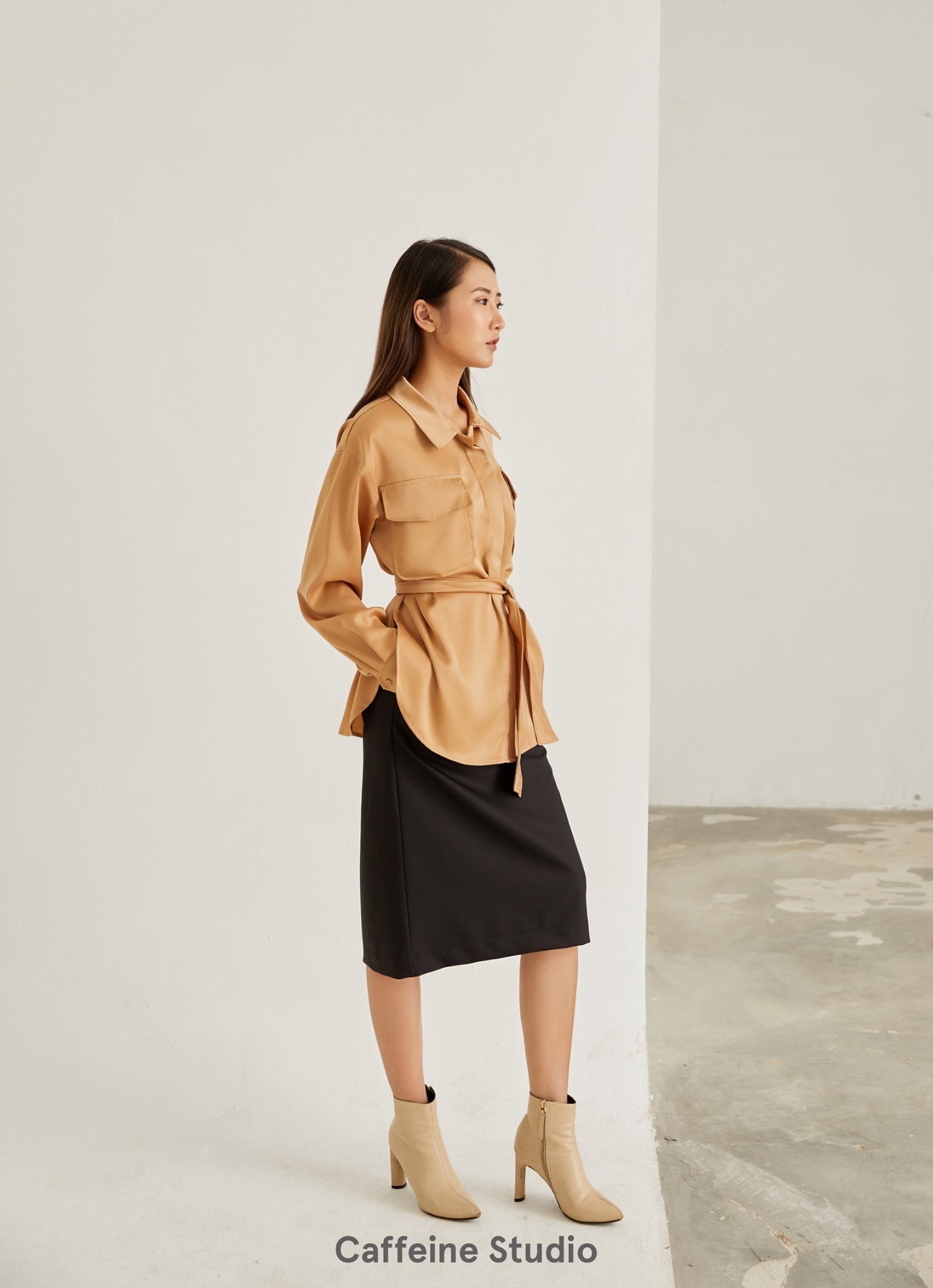 Silk Shirt with belt FW19