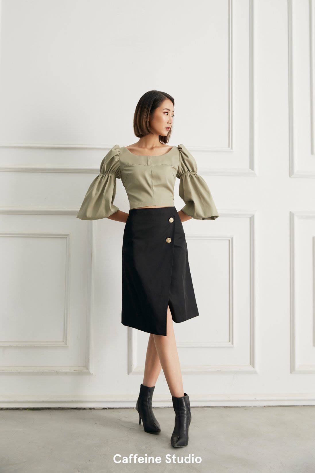 Midi skirt 2 button