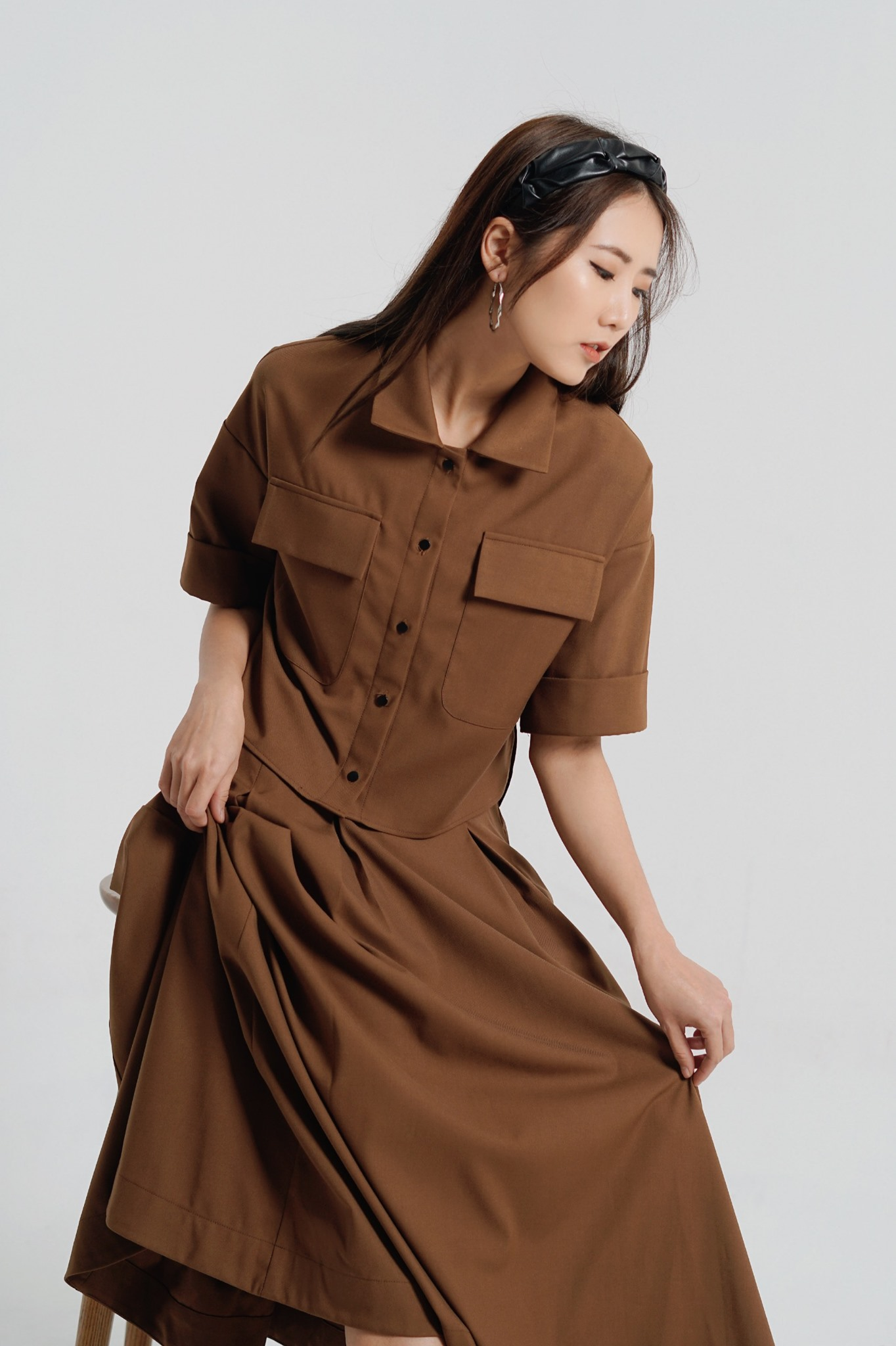 Ivy midi skirt