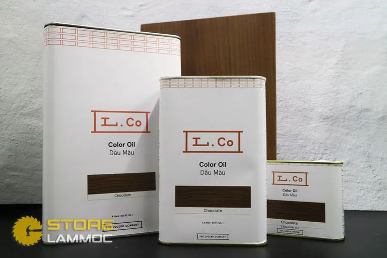 L.Co Color Oil Chocolate -  Dầu màu L.Co màu Chocolate  - Dầu màu gỗ cao cấp, an toàn cho sức khỏe - Loại 4L