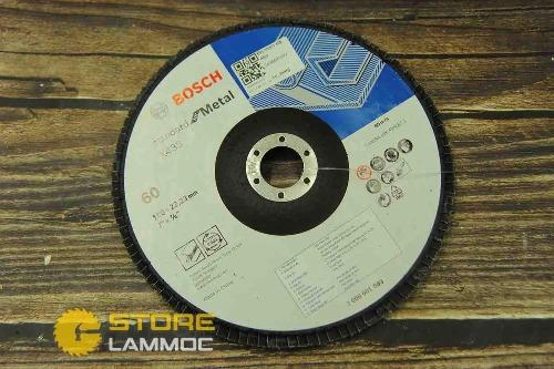 Đĩa nhám xếp Alox P60/180mm BOSCH 2608601693