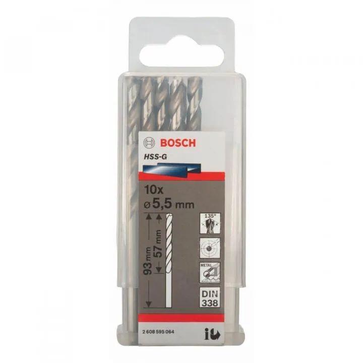BOSCH Mũi khoan sắt 5.8mm HSS-G 2608595065 (bán lẻ)