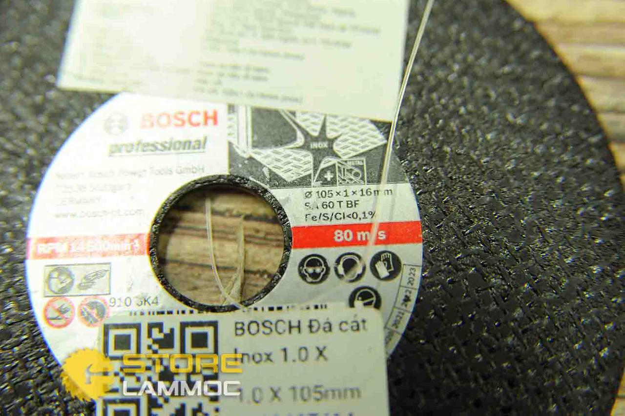 BOSCH Đá cắt Inox 1.0 X 105 mm 2608607414