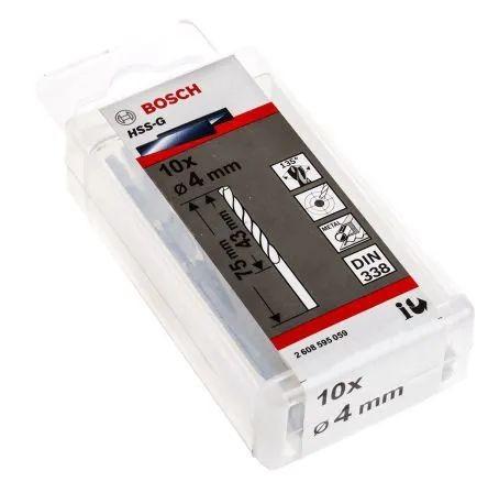 BOSCH Mũi khoan sắt 4mm HSS-G  2608595059 (bán lẻ)
