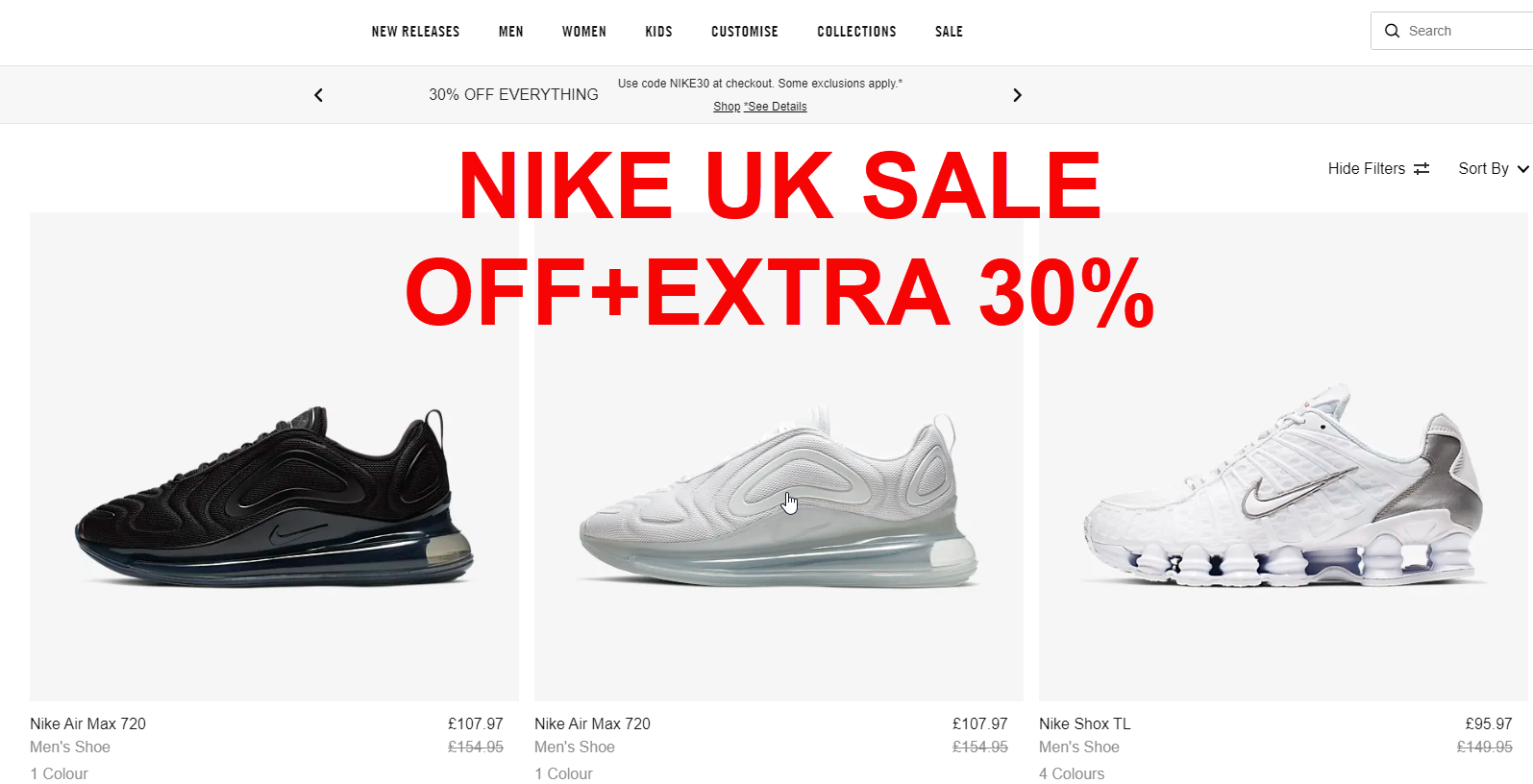 Nike UK siêu giảm giá-sale off Extra 30% up to 70%