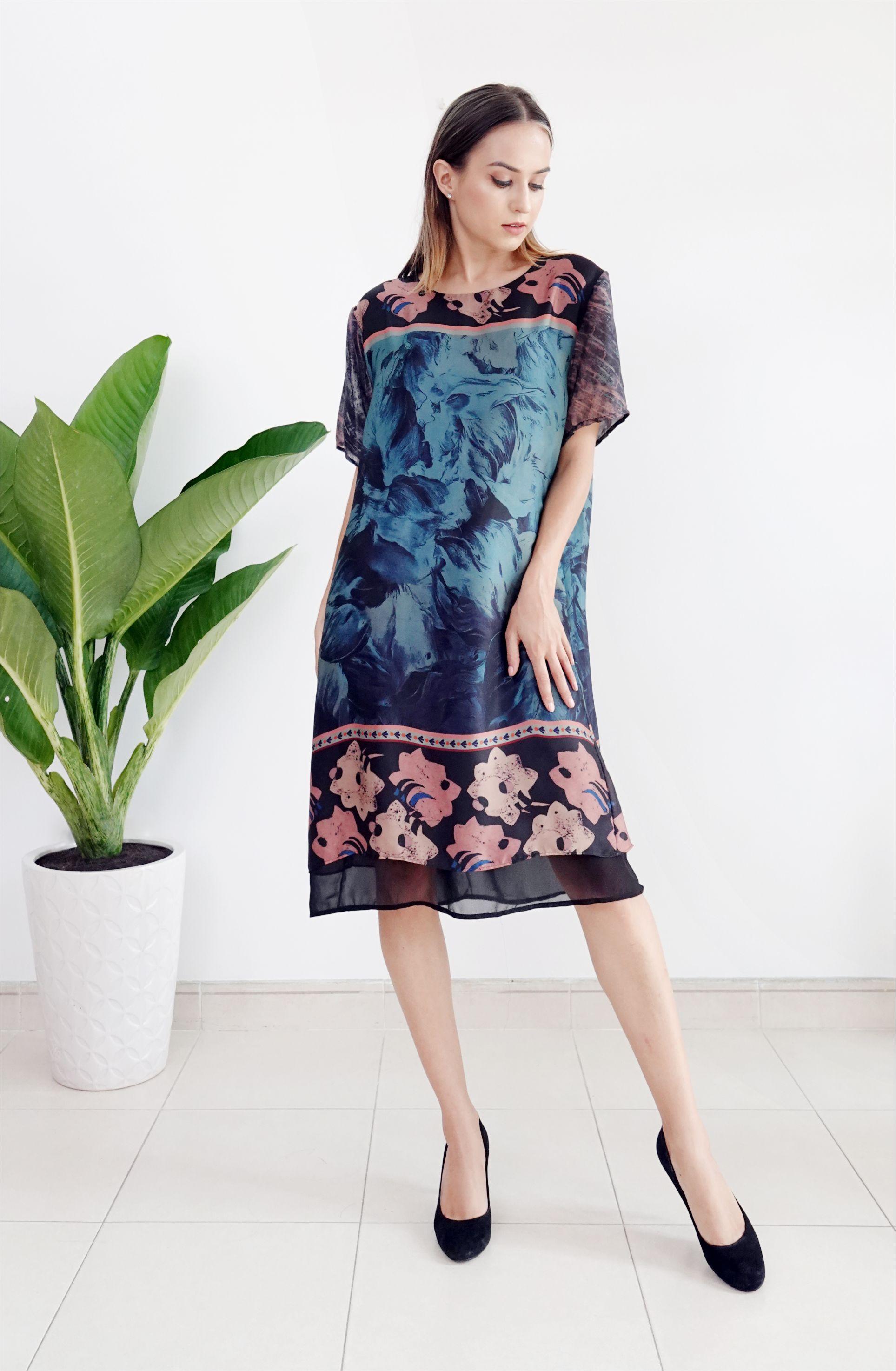 Áo Đầm Hoa AD 0820-02