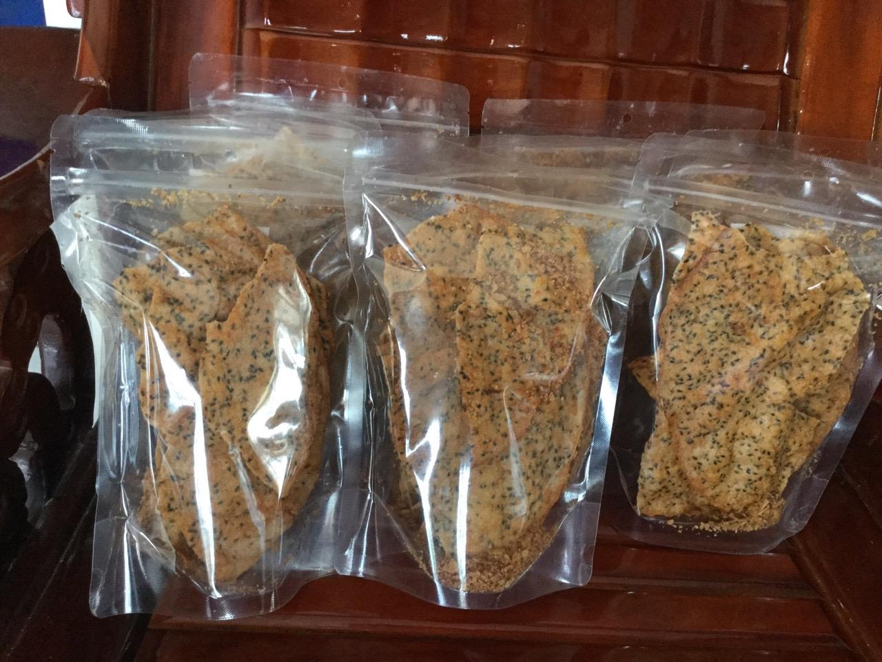 Bánh Đa (Tráng) nướng tỏi ớt nước cốt dừa