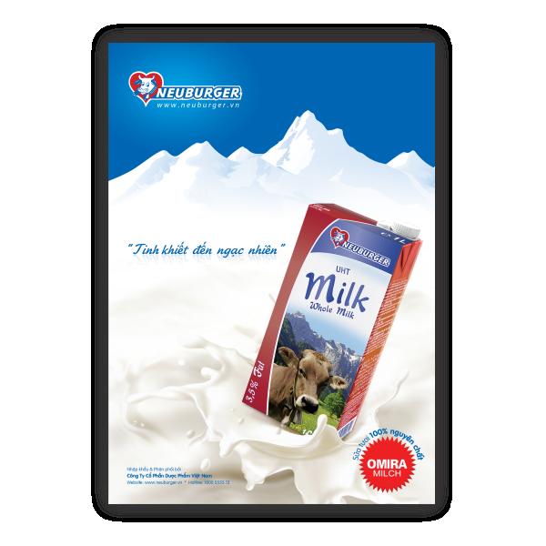 Poster sữa Neuburger - Tinh khiết đến ngạc nhiên