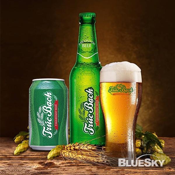 Chụp ảnh sản phẩm Bia Trúc Bạch
