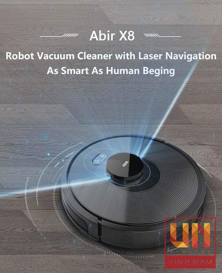 Robot hút bụi lau nhà ABIR X8 2020 - UV diệt khuẩn, khả năng nhớ 3 bản đồ
