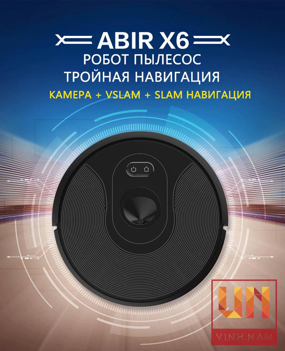 Robot hút bụi lau nhà ABIR X6 2020 - UV diệt khuẩn
