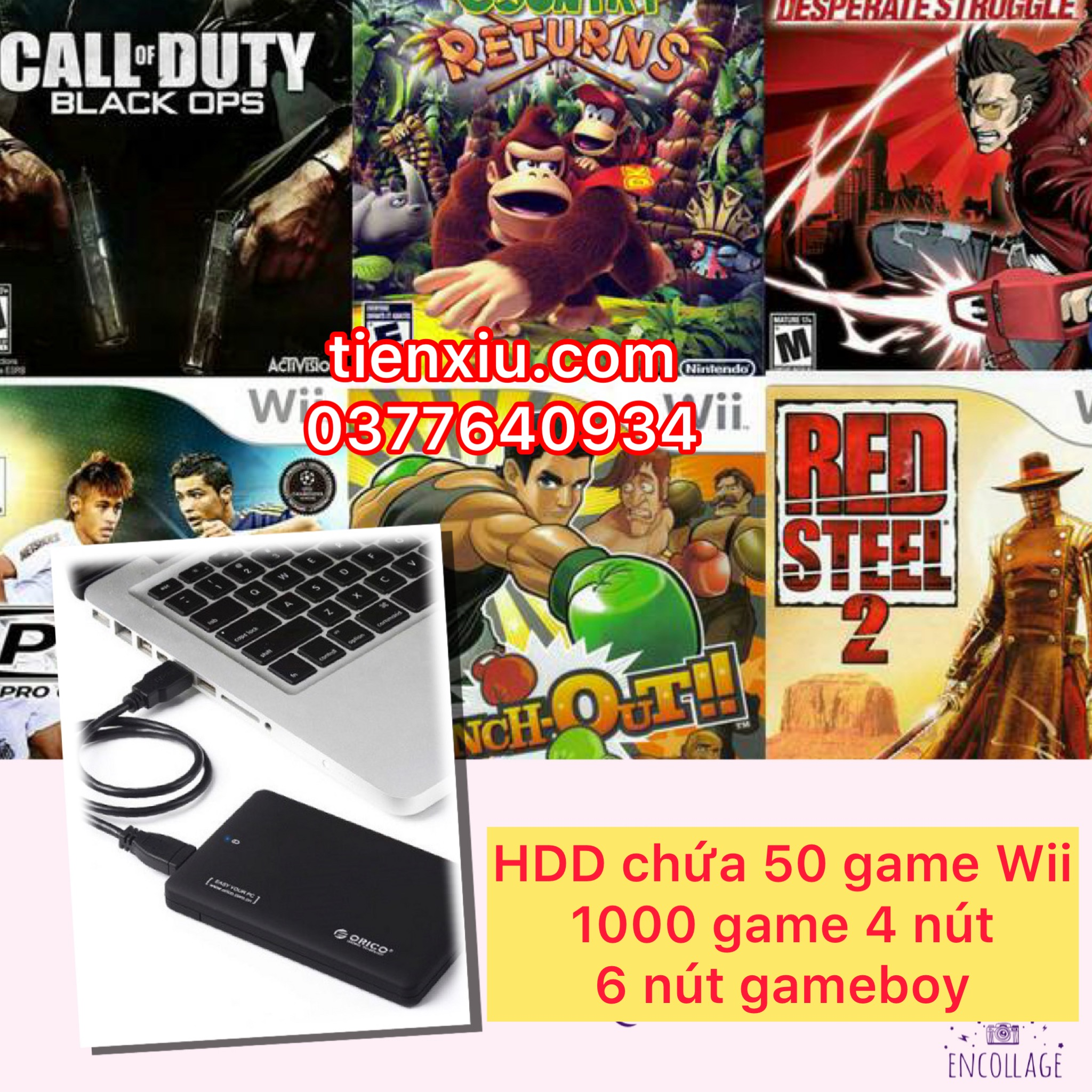 ổ cứng HDD game Wii chứa game wii 4 nút 6 nút gameboy