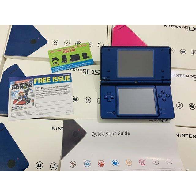 nintendo dsi màu xanh remake 99% thẻ 26h 250 trò chơi sạc 220v
