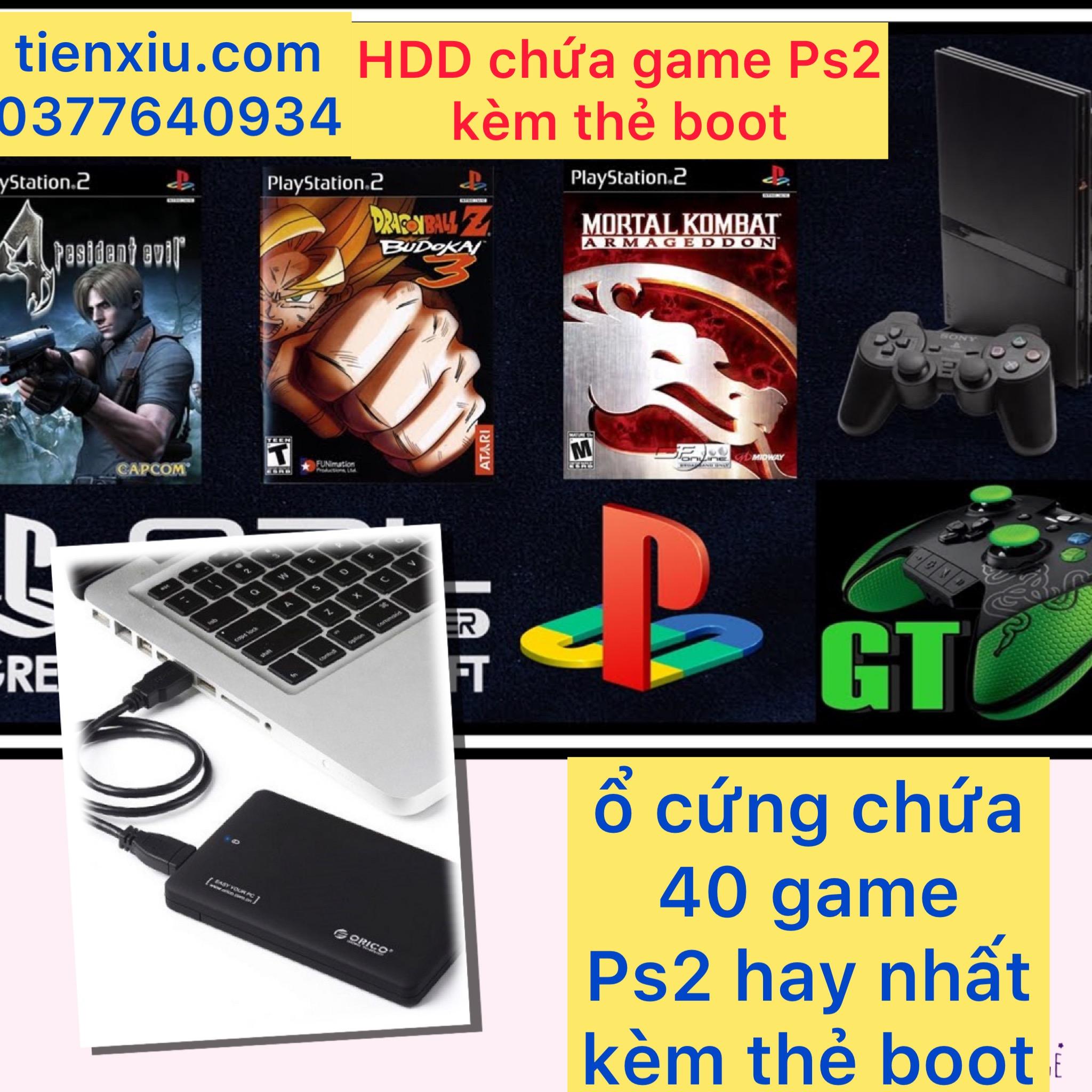 ổ cứng game Ps2 kèm usb boot chứa game ps2 4 nút 6 nút