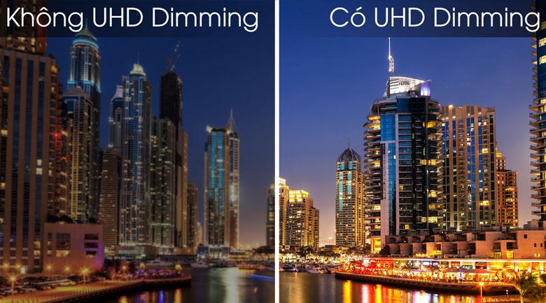 So sánh công nghệUHD Dimming và không UHD Dimming - Smart Tivi Samsung 4K 43 inch UA43TU8100