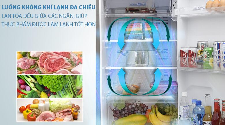 Làm lạnh đa chiều - Tủ lạnh Aqua 205 lít AQR-I209DN DC