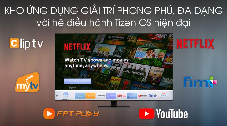 Kho ứng dụng đa dạng trong hệ điều hành Tizen OS - Smart Tivi Samsung 4K 55 inch UA55TU8100