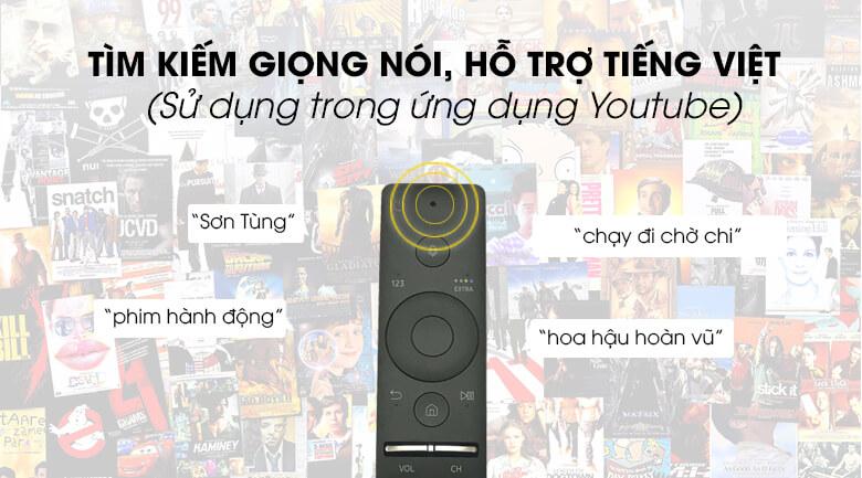 Hỗ trợ tìm kiếm giọng nói bằng Tiếng Việt - Smart Tivi Samsung 4K 65 inch UA65TU8500