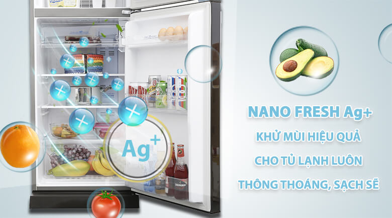 Nano Fresh Ag+ - Tủ lạnh Aqua 205 lít AQR-I209DN DC