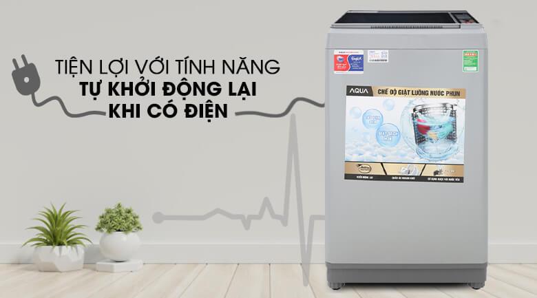 Tự khởi động lại khi có điện - Máy giặt Aqua 9 Kg AQW-S90CT H2