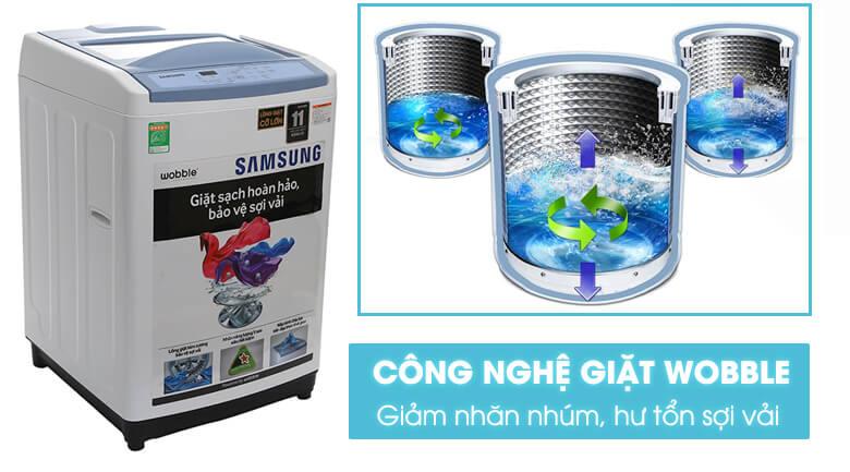 Công nghệ giặt Wobble - Máy giặt Samsung 8.5 kg WA85M5120SW/SV