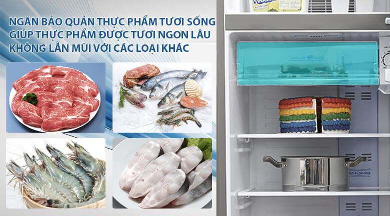 Ngăn tươi sống - Tủ lạnh Aqua 205 lít AQR-I209DN DC