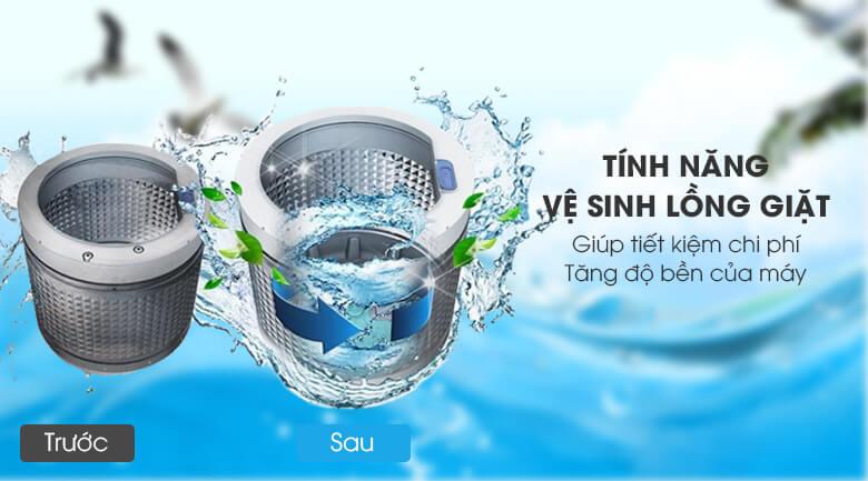 Vệ sinh lồng giặt tự động - Máy giặt Aqua 8 Kg AQW-S80CT H2