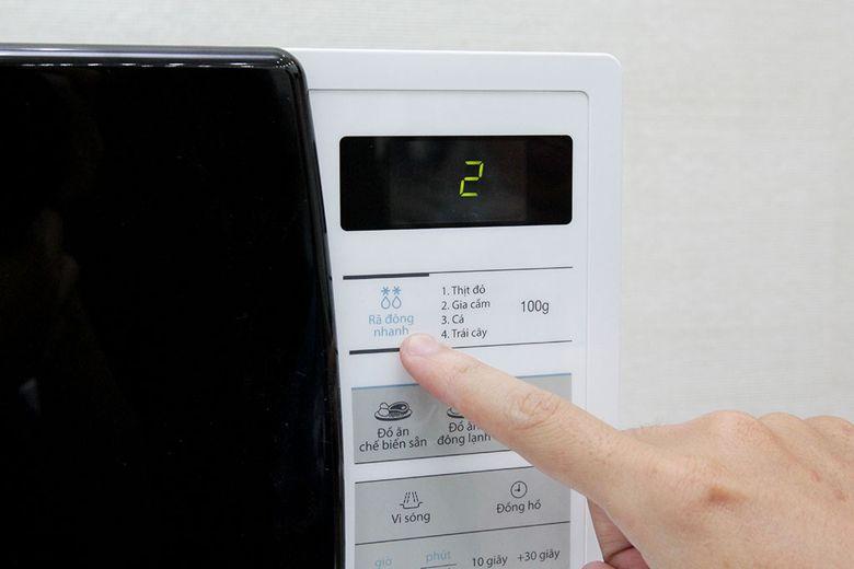 Chế độ rã đông nhanh tiện lợi và tiết kiệm điện