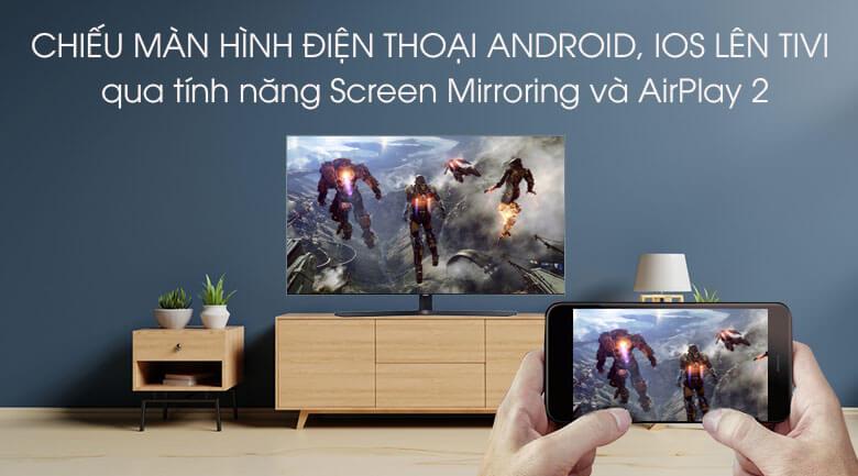 Smart Tivi Samsung 4K 65 inch UA65TU8500 - Chiếu màn hình điện thoại lên tivi