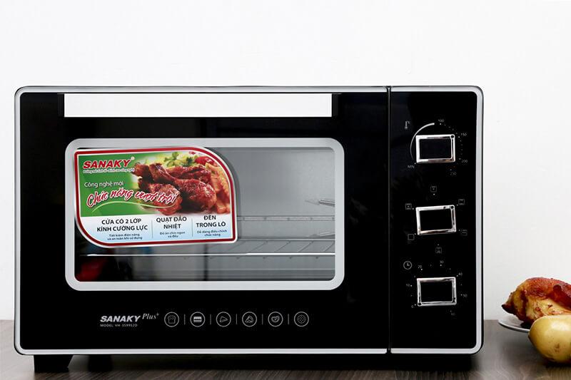 Lò nướng Sanaky VH3599S2D kiểu dáng gọn gàng, hiện đại