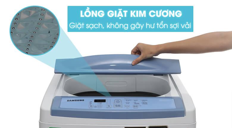 Lồng giặt kim cương - Máy giặt Samsung 8.5 kg WA85M5120SW/SV