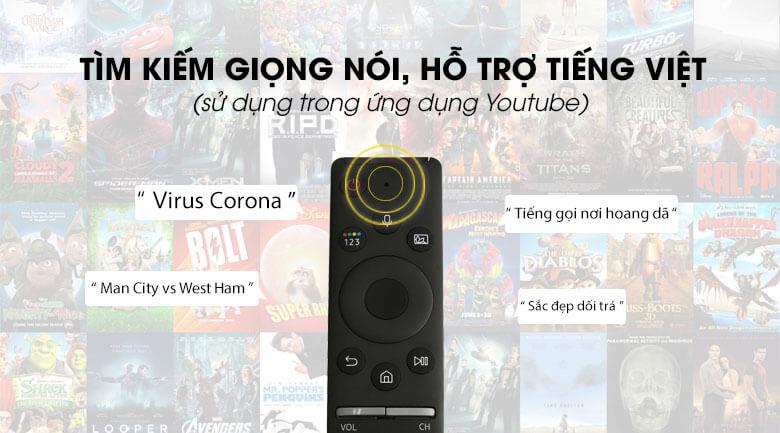 Tìm kiếm giọng nói, hỗ trợ tiếng Việt - Tivi LED Samsung UA43TU8100