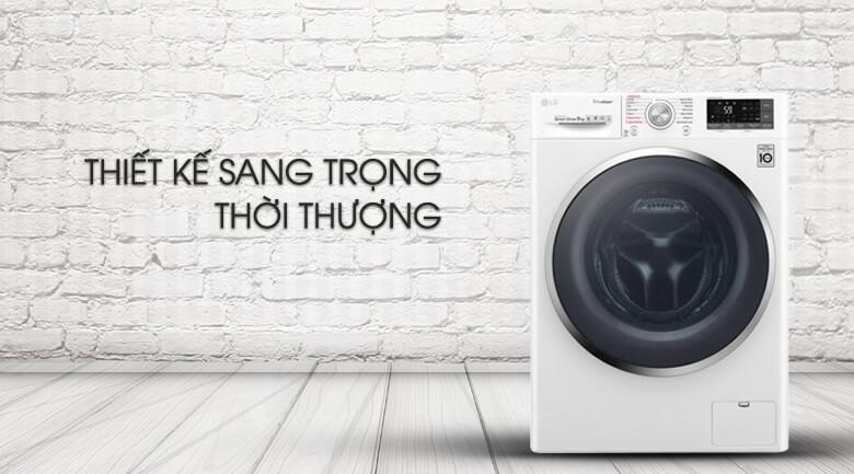 Máy giặt LG Inverter 9 kg FC1409S4W - Thiết kế sang trọng, thời thượng