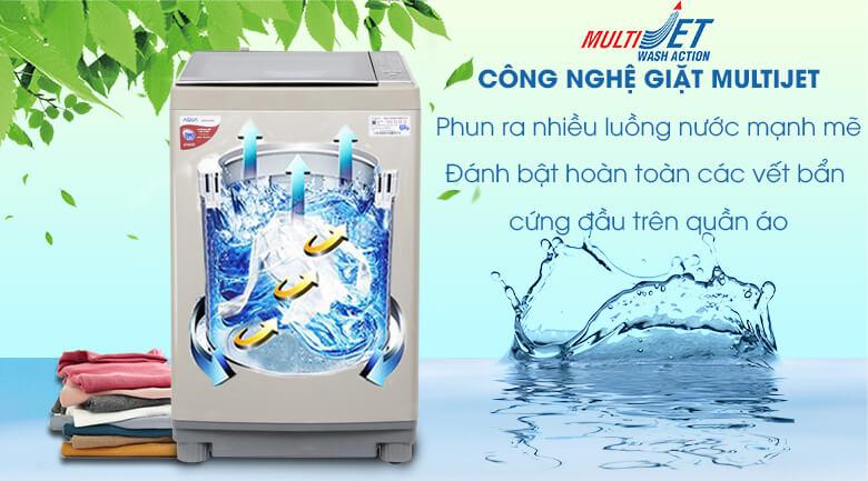 MultiJet - Máy giặt Aqua 10.5 kg AQW-FW105AT N
