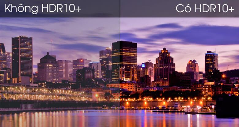Smart Tivi Samsung 4K 65 inch UA65TU8500 - So sánh công nghệ HDR10+ và không HDR10+