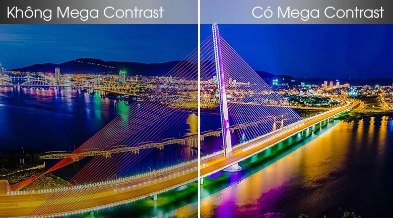 So sánh công nghệ Mega Contrast và không Mega Contrast - Smart Tivi Samsung 4K 55 inch UA55TU8100