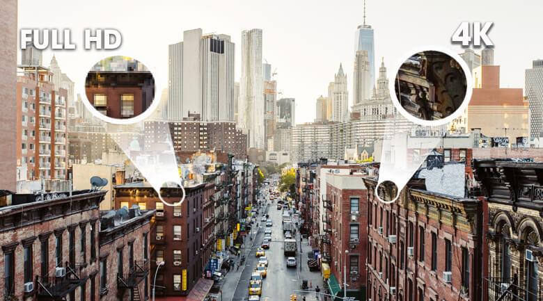So sánh màn hình Full HD và màn hình 4K - Smart Tivi Samsung 4K 43 inch UA43TU8100