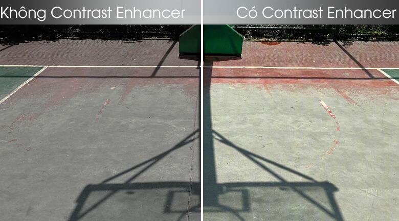 So sánh công nghệ Contrast Enhancer và không Contrast Enhancer - Smart Tivi Samsung 4K 55 inch UA55TU8100