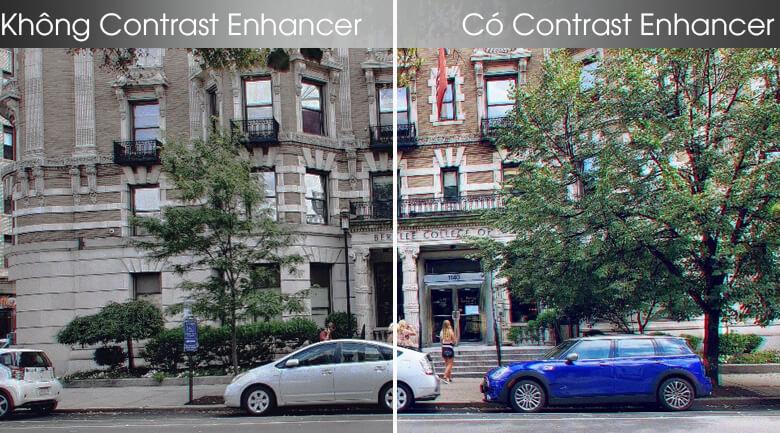 So sánh công nghệ Contrast Enhancer và không Contrast Enhancer - Smart Tivi Samsung 4K 43 inch UA43TU8100