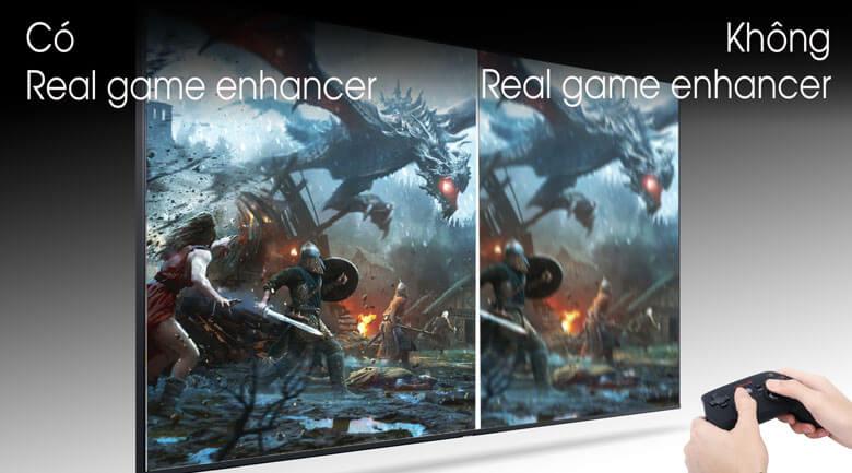 So sánh Công nghệ Real Game Enhancer và không Real Game Enhancer - Smart Tivi Samsung 4K 55 inch UA55TU8100