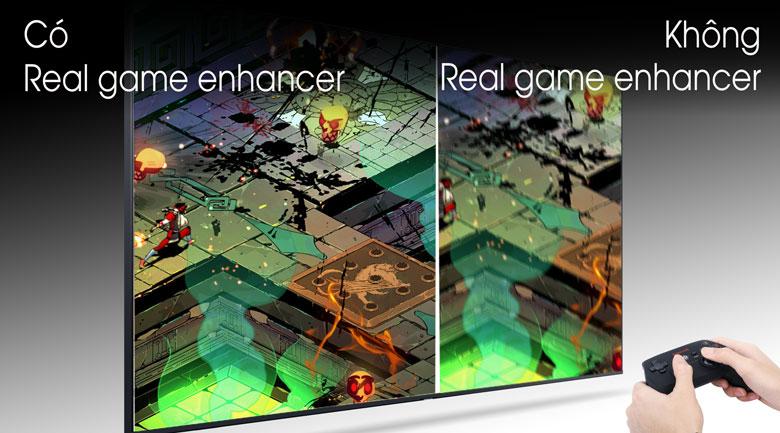 So sánh Công nghệ Real Game Enhancer và không Real Game Enhancer - Tivi LED Samsung UA43TU8100