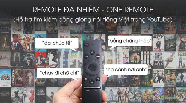 Điều khiển tivi dễ dàng với Remote đa nhiệm - Smart Tivi Samsung 4K 55 inch UA55TU8100