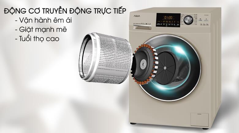 Động cơ truyền động trực tiếp - Máy giặt Aqua Inverter 10 kg AQD-DD1000A (N2)
