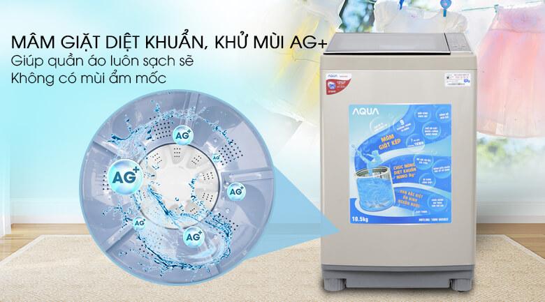 Máy giặt Aqua 10.5 kg AQW-FW105AT N - Nano Ag+