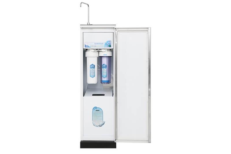 Máy lọc nước cho lượng nước dồi dào với công suất lọc đến 17 - 18 lít giờ, dung tích bình chứa nước 10 lít - Máy lọc nước RO Daikiosan DXW-33009G 9 lõi